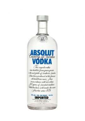 Vodka Absolut 70cl 40%, Cereale, Suede / Skane