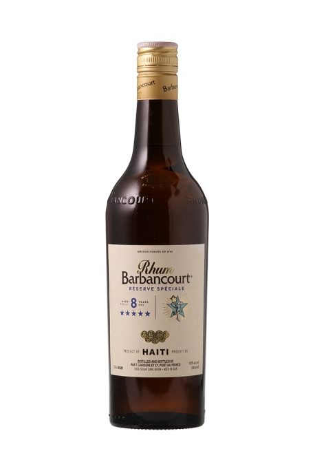 Barbanbourt 8ans 70cl 43%, Rhum Haiti