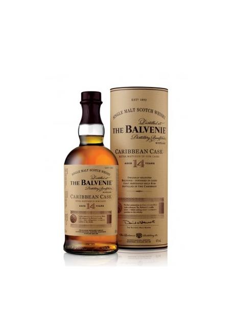 Whisky The Balvenie 14ans Caribbean Cask 70cl 43%, Single Malt, Ecosse / Speyside