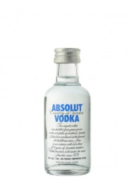 Vodka Absolut 0.05cl 40%,Cereale, Suede / Skane