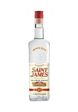 Rhum Saint James Imperial Blanc 70cl 40%, Agricole, Martinique