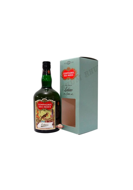 Rhum Compagnie des Indes Latino 5ans - Blend from Guatemala, Trinidad, Barbados, Guyana 70cl 40%