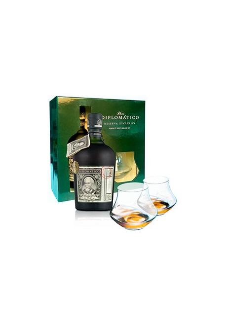 Rhum Diplomatico Reserva Exclusiva Gift Box & 2 Verres 70cl 40%, Venezuela