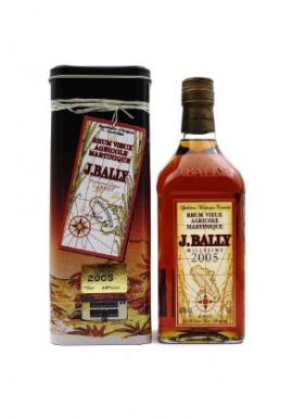 Rhum J.Bally Millésime 2005 70cl 43%, France / Martinique
